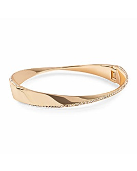 Jon Richard Gold Twist Pave Bangle