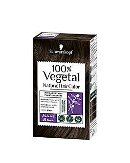Schwarzkopf 100% Vegetale Hair Dye Natural Brown
