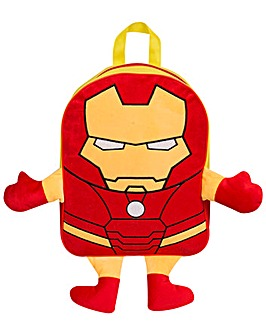 Iron Man Embroiderd Plush Backpack