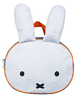Miffy Plush Front Backpack - Blue