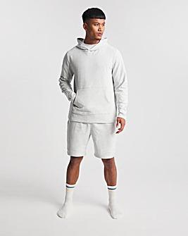 Light Grey Heavyweight Jersey Hoody With Short Set