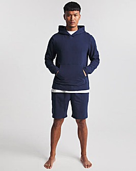 Navy Heavyweight Jersey Hoody With Short Set
