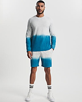 Long Sleeve Dip Dye Crew Sweat and Short