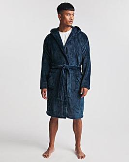Hooded Sherpa Fleece Dressing Gown