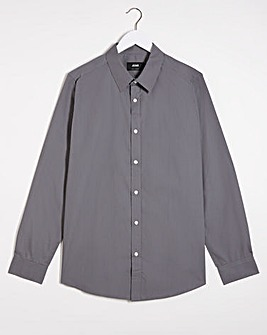 Grey Long Sleeve Formal Shirt Reg