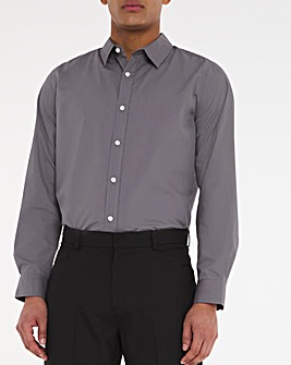 Grey Long Sleeve Formal Shirt Long
