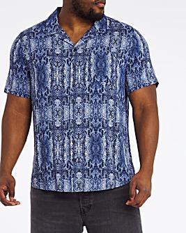Snakeprint Revere Collar Shirt Long