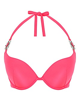 Ann Summers Cuba Bling Hot Pink Halter Bikini Top