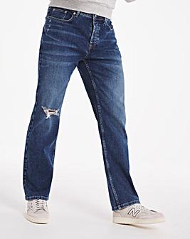 Premium Vintage Wash Loose Fit Jeans