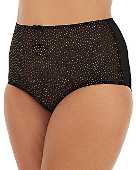 Ivory Rose Spot Mesh High Waist Briefs