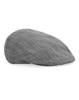 Grey Check Flat Cap