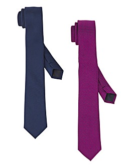 Navy/Pink Pack of 2 Ties