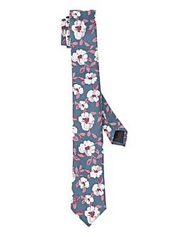 Floral Print Skinny Tie
