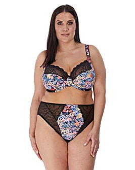 Elomi Lucie Printed Plunge Non Padded Wired Bra