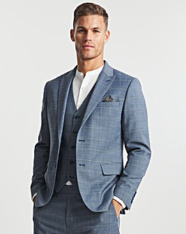 Light Blue Check Barry Regular Fit Suit Jacket