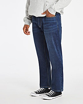 Darkwash Loose Fit Stretch Jeans