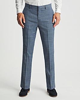 Light Blue Check Barry Regular Fit Suit Trousers