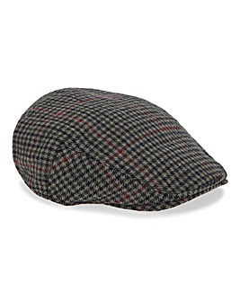 Tweed Check Flat Cap