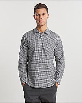 Black Long Sleeve Gingham Cotton Shirt
