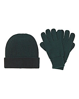 Forest Green Hat & Glove Set