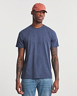 Denim Marl Crew Neck T-Shirt Long