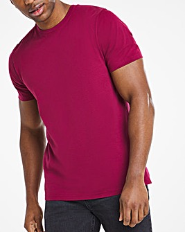 Wine Crew Neck T-Shirt Regular