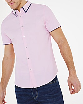 Baby Pink Spot Double Collar Shirt