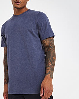 Denim Marl Crew Neck T-Shirt Regular