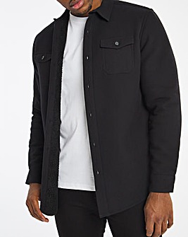 Black Borg Lined Flannel Shirt
