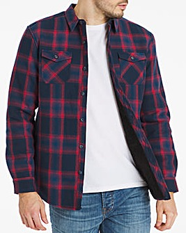 Red Check Borg Lined Flannel Shirt