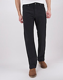 Black Loose Fit Twill Jeans