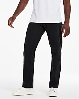 Black Loose Fit Stretch Gabardine Jeans