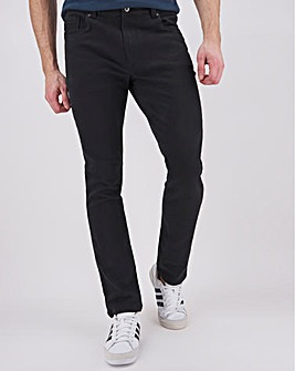 Black Slim Fit Stretch Gabardine Jeans