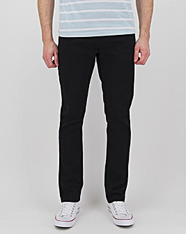 Black Straight Fit Twill Jeans