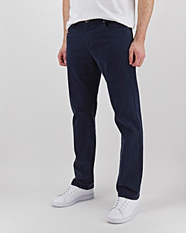 Navy Straight Fit Twill Jeans