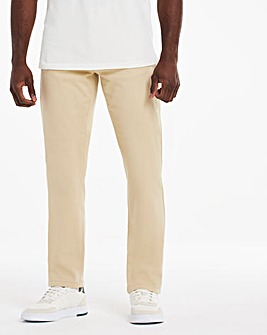 Stone Straight Stretch Gabardine Jeans