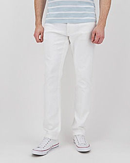"White Slim Fit Twill Jeans 31"" Inside Leg"