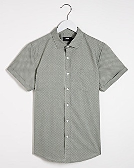Green Polka Dot Short Sleeve Shirt Long
