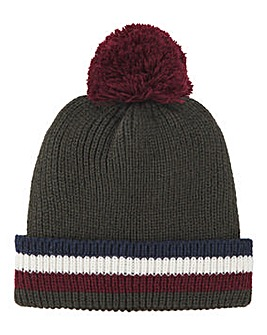 Colourblock Fleece Lined Bobble Hat