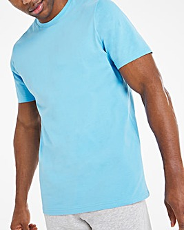 Blue Crew Neck T-Shirt Long