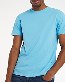 Blue Crew Neck T-Shirt Long
