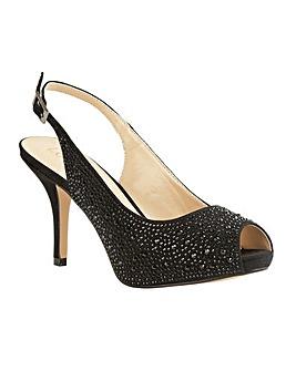 Lotus Astro Peep-Toe Sling-Back Shoes