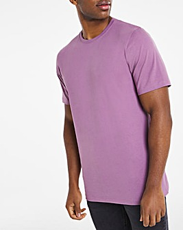 Purple Crew Neck T-Shirt Long