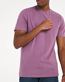 Purple Crew Neck T-Shirt Long