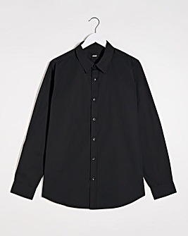 Black Long Sleeve Formal Shirt Reg