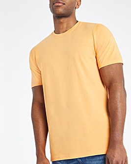 Orange Crew Neck T-Shirt Long