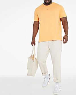 Orange Crew Neck T-Shirt Long