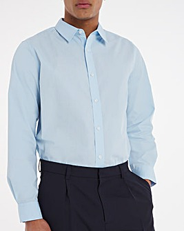Blue Long Sleeve Formal Shirt Long