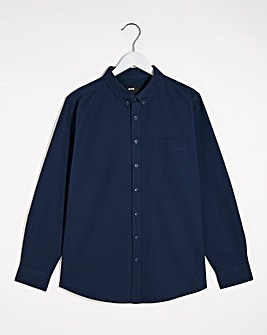 Navy Long Sleeve Formal Shirt Reg