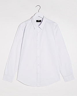 White Long Sleeve Formal Shirt Reg